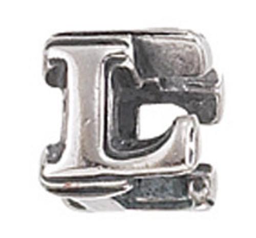 "ZABLE ""L"" Letter Bead Charm BZ-1812"