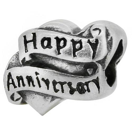 Zable bead charm Happy Anniversary, fits Pandora, compatible with Pandora