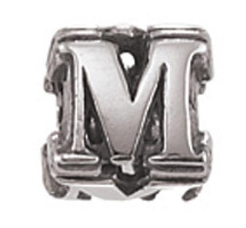 "ZABLE ""M"" Letter Bead Charm BZ-1813"