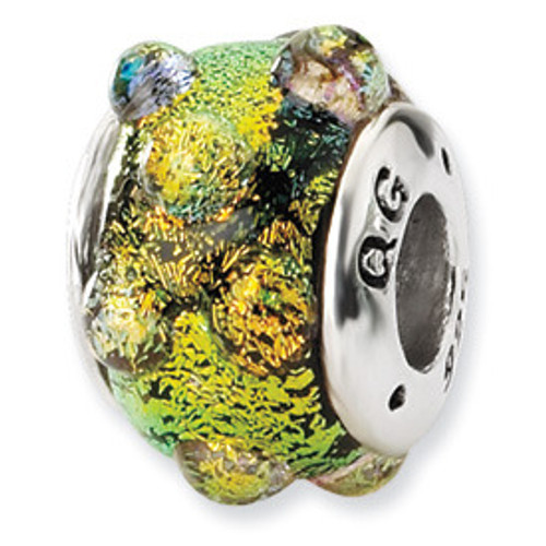 Reflections Dichroic Glass Bead Charm QRS1463