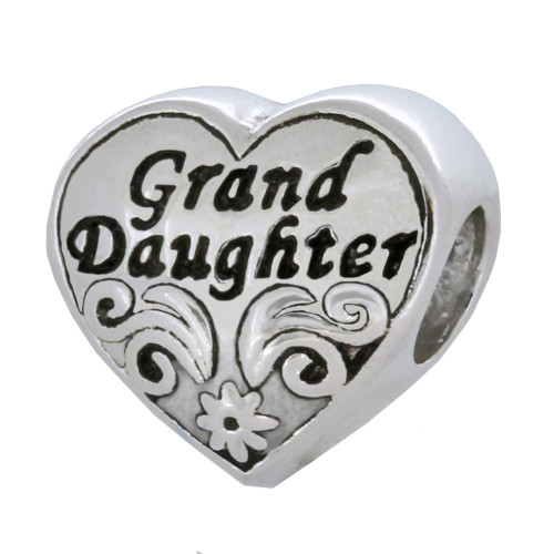 ZABLE Grand Daughter Bead Charm BZ-2128, fits Pandora.