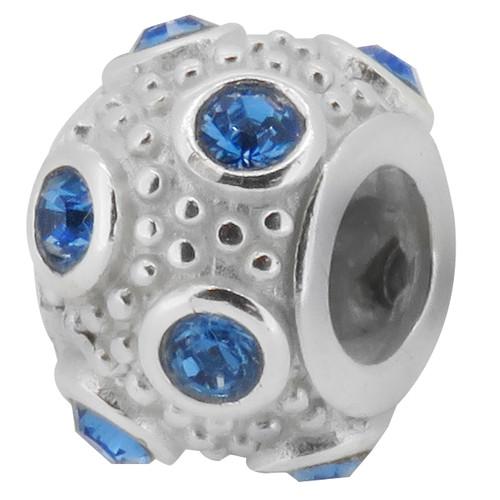ZABLE September Birthstone Ball Bead Charm BZ-1046