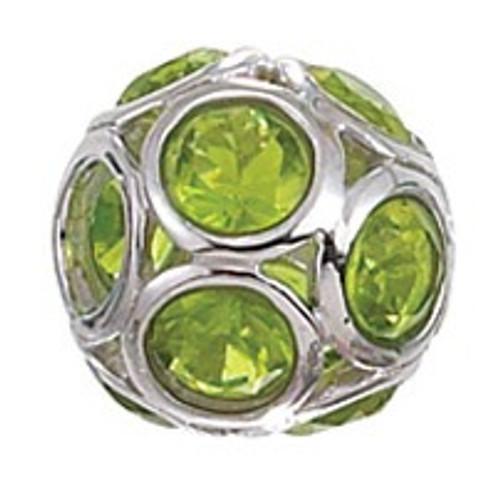 ZABLE August Birthstone CZ Sphere Bead Charm BZ-1108