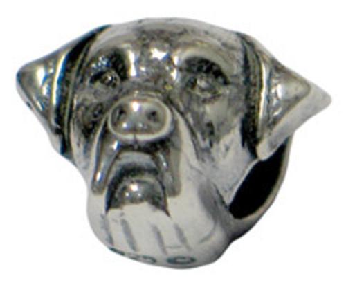 ZABLE Rottweiler Dog Bead Charm BZ-2170, fits Pandora.