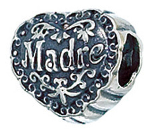ZABLE Madre Heart Bead Charm BZ-2181