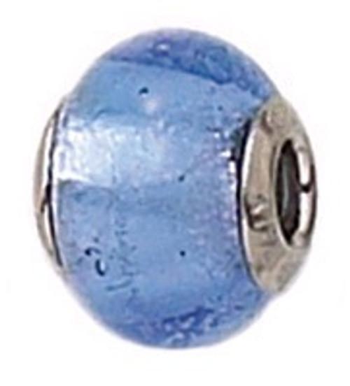 ZABLE Murano Glass Bead Charm March Birthstone Blue BZ-1503