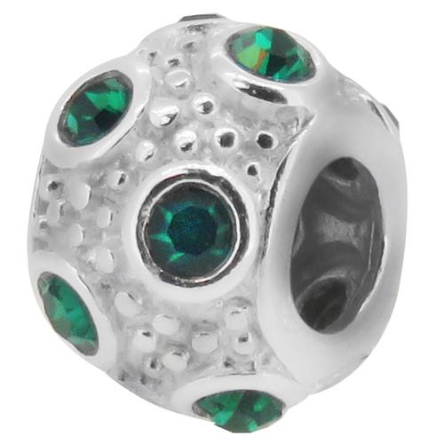 ZABLE May Birthstone Ball Bead Charm BZ-1042