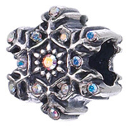 ZABLE Snowflake with Crystals Bead Charm BZ-1638