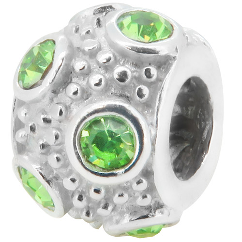 ZABLE August Birthstone Ball Bead Charm BZ-1045
