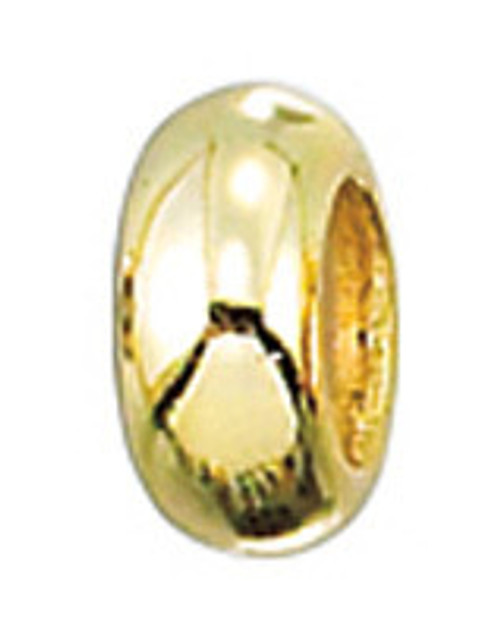 ZABLE Safety Stopper Gold over Sterling Silver Bead Charm BZ-3028 (set of 2)