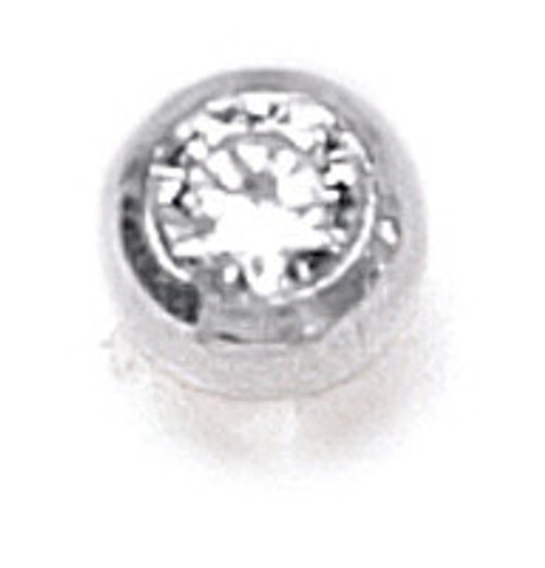 ZABLE Bangle Replacement End Piece with Clear CZ BZB-215