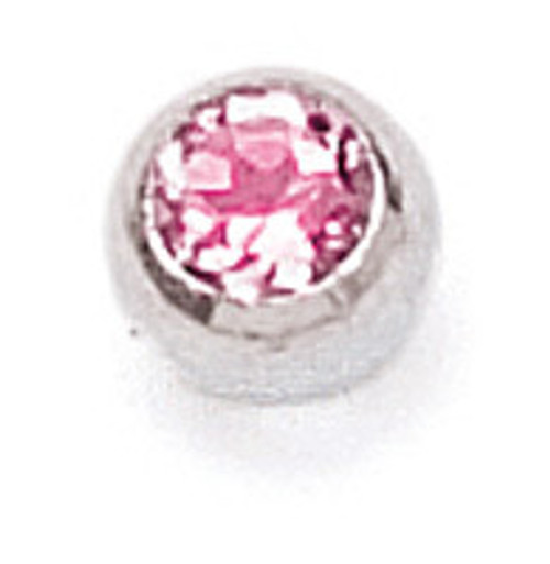 ZABLE Bangle Replacement End Piece with Pink CZ BZB-225