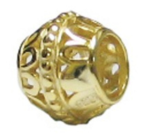 ZABLE Gold over Sterling Silver Filigree Bead Charm BZ-3010