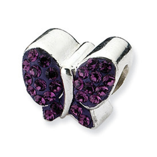 REFLECTIONS Purple Butterfly Crystal Bead Charm QRS1939