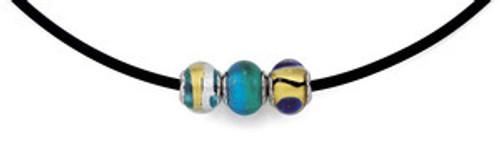 ZABLE Starter Black Rubber Necklace