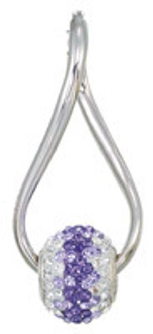 ZABLE Twisted Hoop Earrings Purple Set BZB-336