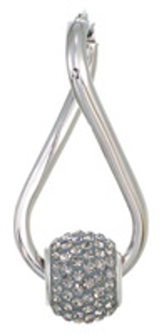 ZABLE Twisted Hoop Earrings Black Diamond Set BZB-343