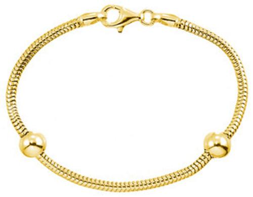 ZABLE 14k Gold over Sterling Smart Starter Bracelet with 2 Stoppers