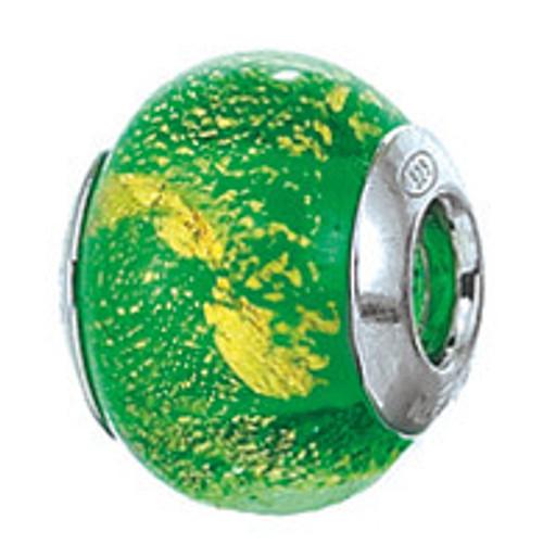 ZABLE Murano Green Glass Bead Charm BZ-1594