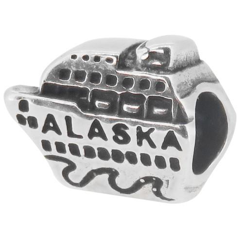 ZABLE Alaska Cruise Ship Bead Charm BZ-1619, fits Pandora.