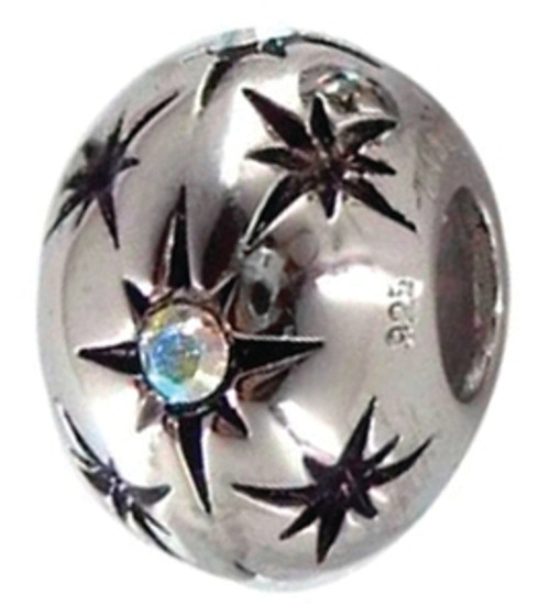 ZABLE (Limited Edition) Starburst with Iridescent Crystals Bead Charm BZ-2222