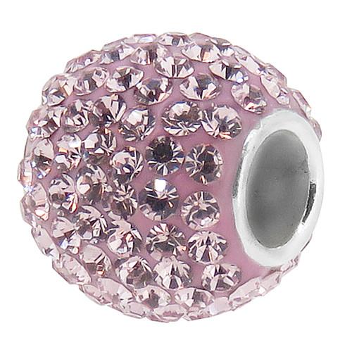 ZABLE June Lavender Crystal Studded Bead Charm BZ-1286