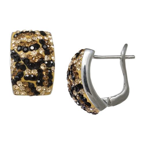 ZABLE Leopard Crystal Studded Earrings BZB-384