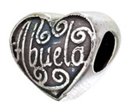 ZABLE Abuela Heart Bead Charm BZ-2259