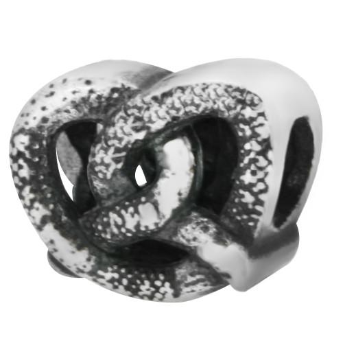 ZABLE Pretzel Bead Charm BZ-2243, fits pandora, compatible with pandora.