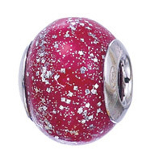 ZABLE Glittery Red Murano Glass Bead Charm BZ-2831