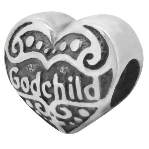 Zable bead charm Godchild, fits Pandora, compatible with Pandora