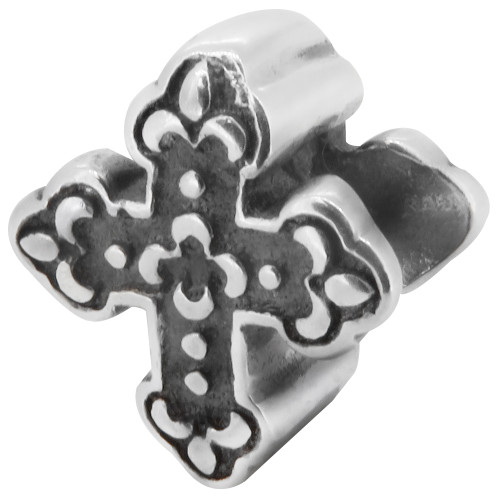 Zable bead charm christian cross, fits Pandora, compatible with Pandora