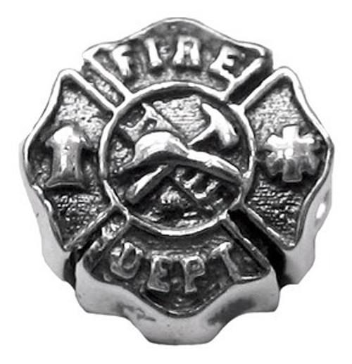 ZABLE Fire Man Woman Badge Bead Charm BZ-1761 fits pandora.