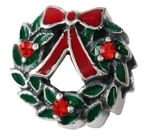 ZABLE Christmas Wreath Bead Charm BZ-2610
