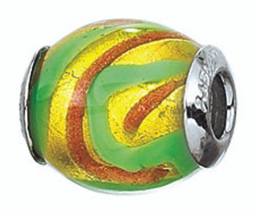 ZABLE Murano Oval Glass Bead Charm BZ-2803 (Retired)