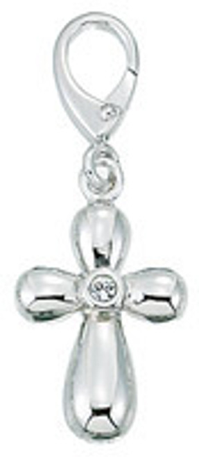 ZABLE Puffy Cross with CZ Charms LC-161