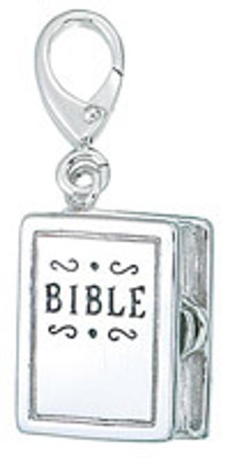 ZABLE Bible Charm Opens w/Cross inside  LC-162