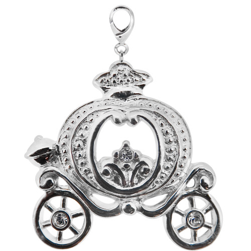 ZABLE Cinderella Carriage Bead Charms LC-152, fits Pandora.