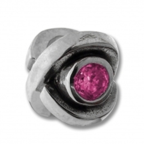 BIAGI October Pink Eye CZ Birthstone Bead Charm BSCZ10-10