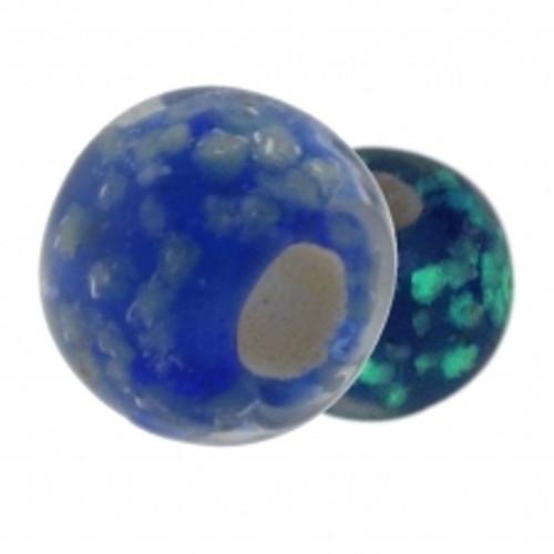 BIAGI KIDZ Blue Glow in the Dark Glass Bead Charm BGG04BL