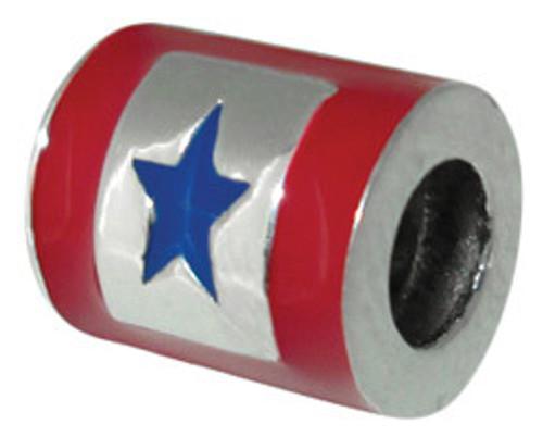 ZABLE US Blue Star Service Flag Bead Charm BZ-2265