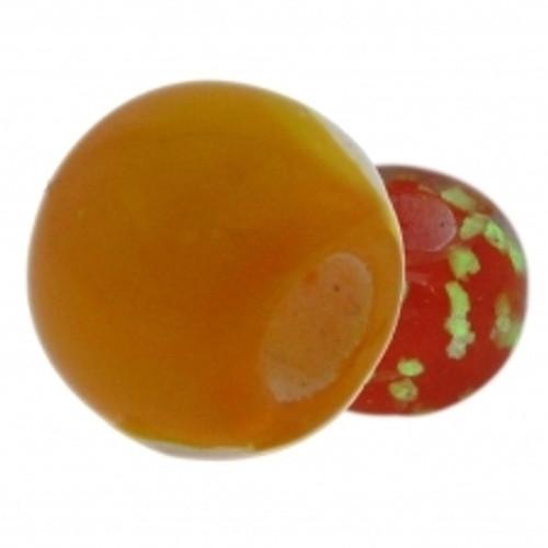 BIAGI KIDZ Orange Glow in the Dark Glass Bead Charm BGG07O