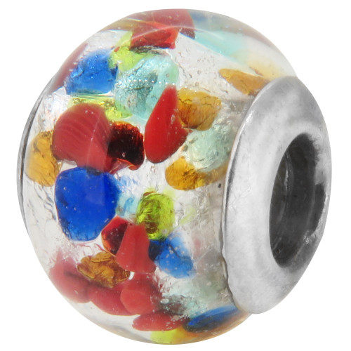 Zable Murano Glass party colored, fits Pandora, compatible with Pandora
