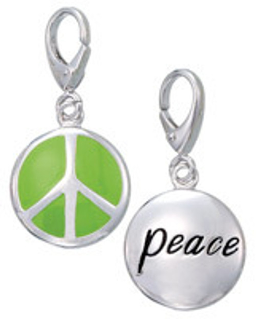 ZABLE Green Peace Sign Charm LC-355