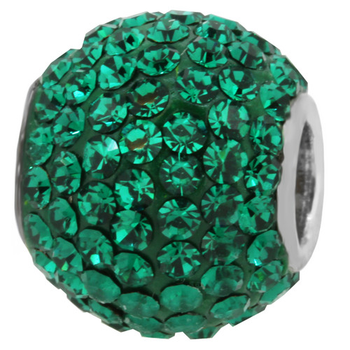 ZABLE Emerald Green May Crystal Studded Bead Charm BZ-1285