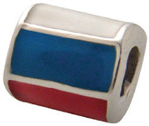 ZABLE Russian Flag Bead Charm BZ-951