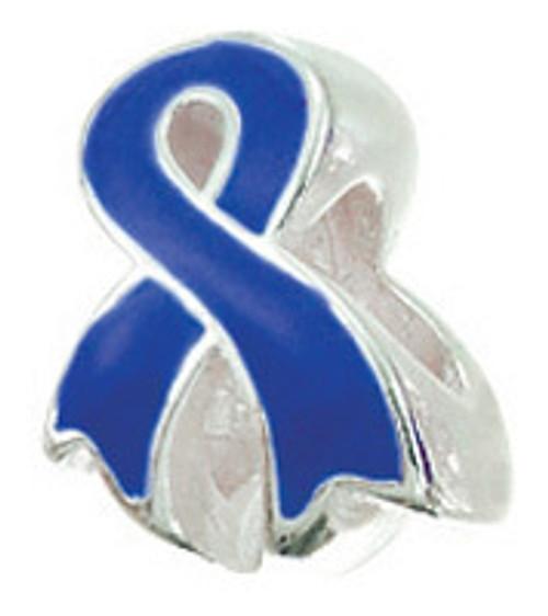 ZABLE Royal Blue Ribbon Bead Charm BZ-2263