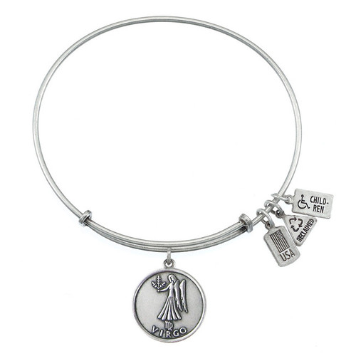 Wind and Fire Virgo Maiden Zodiac Symbol Charm with Bangle WF-118 (retired)