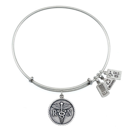Wind and Fire RN Caduceus Charm with Bangle WF-215