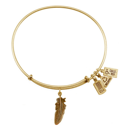 Wind and Fire 3D Feather Charm with Bangle WF-501